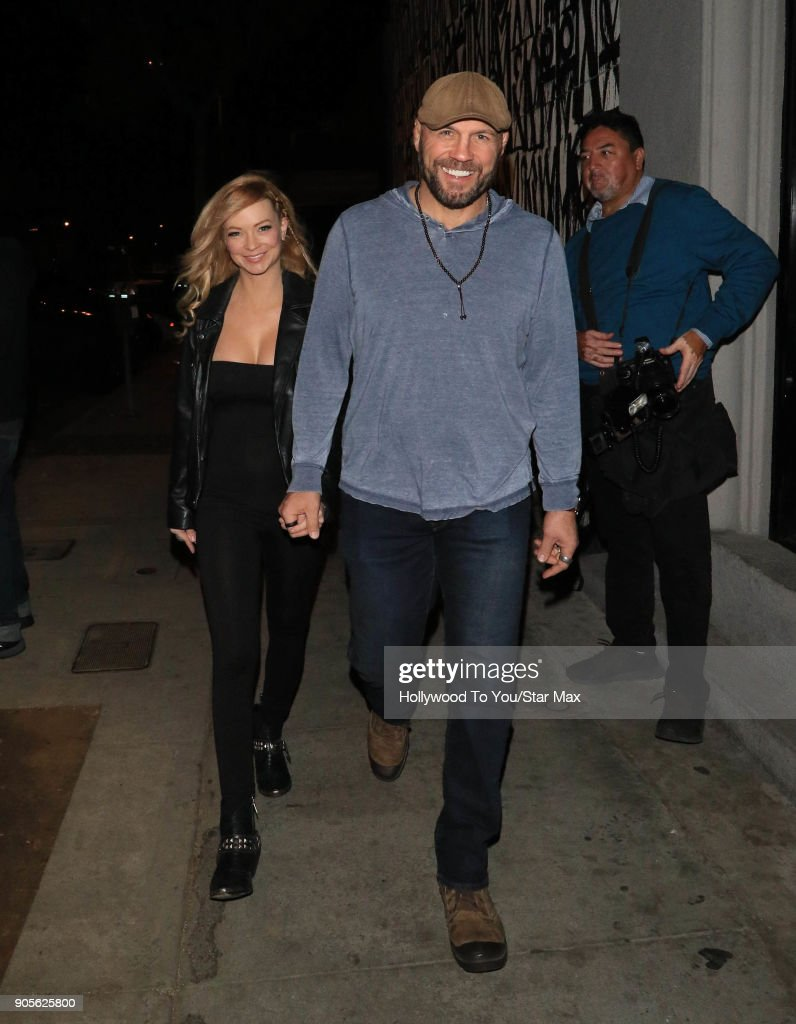 Randy Couture and Mindy Robinson are seen on January 15, 2018 in Los Angeles, CA.