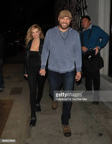 Randy Couture and Mindy Robinson are seen on January 15 2018 in Los Angeles CA