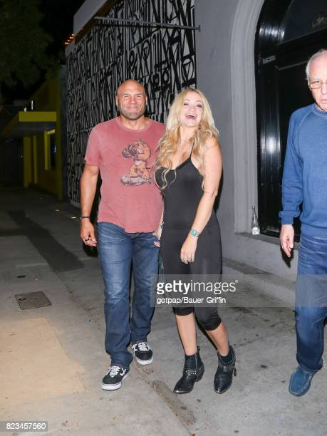 Randy Couture and Mindy Robinson are seen on July 26 2017 in Los Angeles California