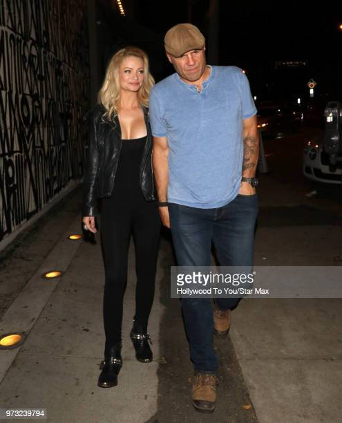 Randy Couture and Mindy Robinson are seen on June 12 2018 in Los Angeles California