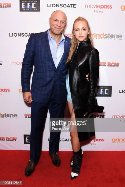 Randy Couture and Natali Yura attend Special Screening of THE ROW featuring Natali Yura at Sunset 5 on July 25 2018 in West Hollywood California