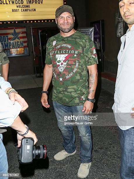 Randy Couture is seen arriving at the Improv Comedy Club on October 28 2015 in Los Angeles California