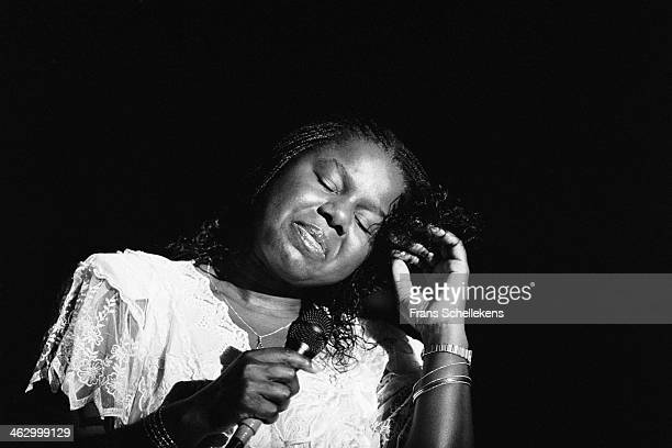 Randy Crawford, vocal, performs at the North Sea Jazz Festival in the Hague, the Netherlands on 14 July 1990.