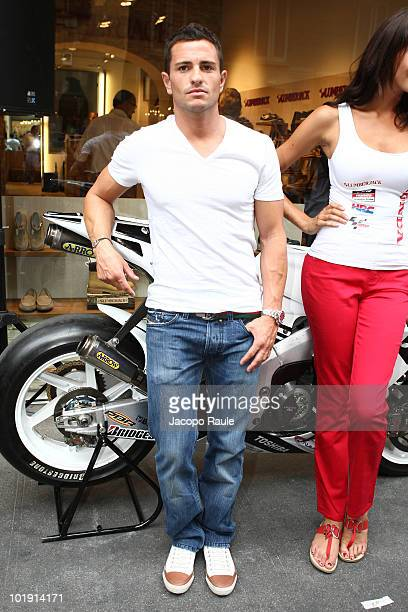 Randy De Puniet attends Lumberjack Flagship Store Opening on June 8 2010 in Milan Italy