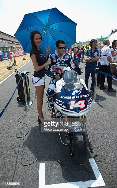 Randy De Puniet of France and Power Electronics Aspar prepares on the grid before the MotoGP of Italy at Mugello Circuit on July 15 2012 in Scarperia...