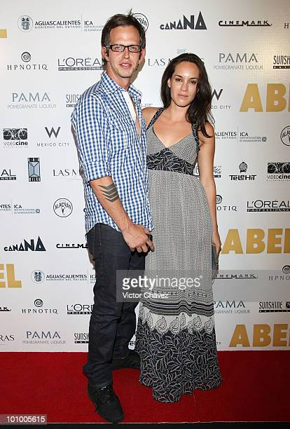 Randy Ebright of Molotov and Muriel Hernandez attend the Abel Mexico City Premiere at Cinemark Reforma 222 on May 25 2010 in Mexico City Mexico