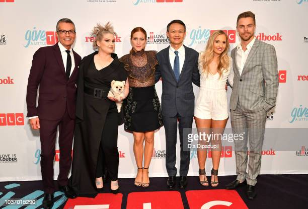 Randy Fenoli Kelly Osbourne Brittany Snow President and GM of TLC Howard Lee Jessie Chris and Derek Hough attend 2018 TLC's Give A Little Awards on...
