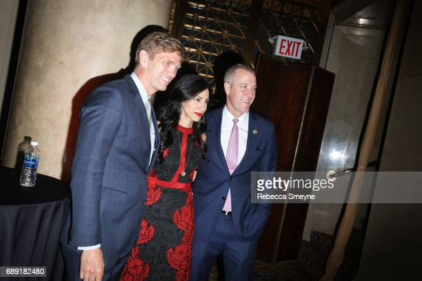 Randy Florke Huma Abedin and Congressman Sean Patrick Maloney attend the Center Dinner at Cipriani Wall St on April 20 2017 in New York City