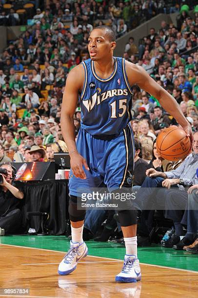 Randy Foye of the Washington Wizards dribbles the ball against the Boston Celtics on March 7 2010 at the TD Garden in Boston Massachusetts NOTE TO...
