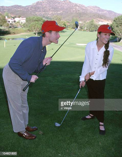 Randy Gardener and Tai Babalona during 4th Annual Camp Laurel Golf Tournament Benefit at North Valley Country Club in Westlake Village California...