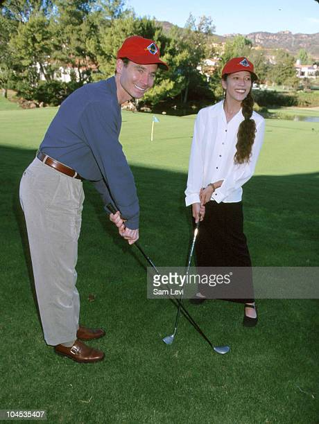 Randy Gardner Tai Babilonia during 4th Annual Camp Laurel Golf Tournament Benefit at North Valley Country Club in Westlake Village California United...