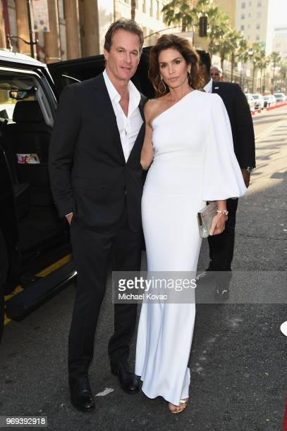 Randy Gerber and Cindy Crawford attend the American Film Institute's 46th Life Achievement Award Gala Tribute to George Clooney at Dolby Theatre on...