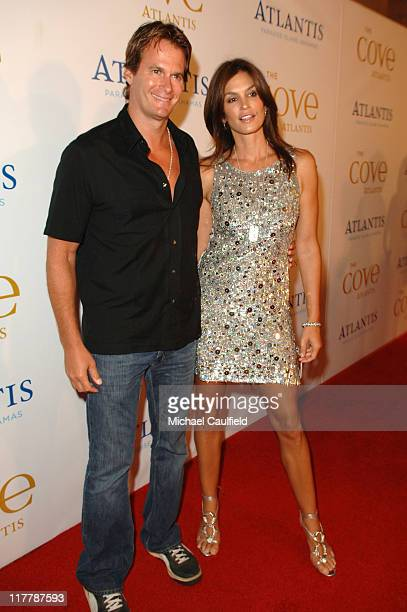 Randy Gerber and Cindy Crawford during John Travolta Whitney Houston Steven Tyler and Disco Concert Cap Off Grand Opening of The Cove Atlantis at...
