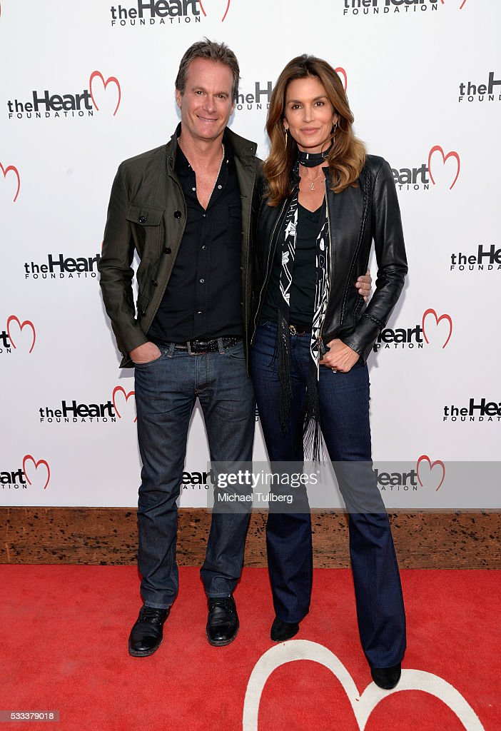 Randy Gerber and supermodel Cindy Crawford attend The Heart Foundation's Honoring of Mike Meldman at Ron Burkle's Green Acres Estate on May 21, 2016 in Beverly Hills, Californi