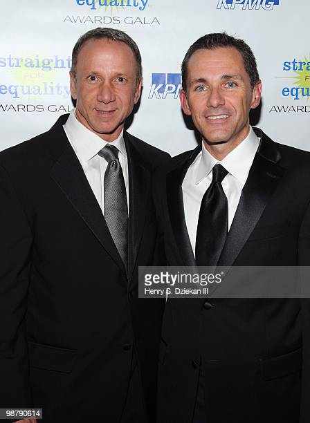 Randy Griffin and PFLAG National Executive Director Jody Huckaby attend PFLAG's 2nd Annual Straight for Equality Awards Gala at the Marriot Marquis...