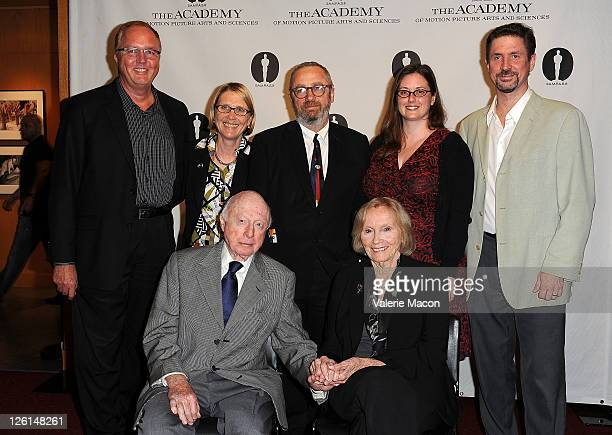 Randy HaberkampAnnette Melville Norman Lloyd Frank Stark Eva Marie Saint Leslie Anne Lewis and Michael Pogorzelski attend The Academy Of Motion...