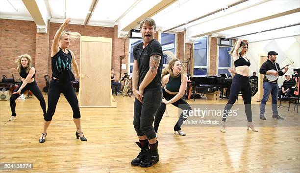 Randy Harrison and cast during the press preview for the Roundabout Theatre Company's National tour production of 'Cabaret' at Gibney Studios on...