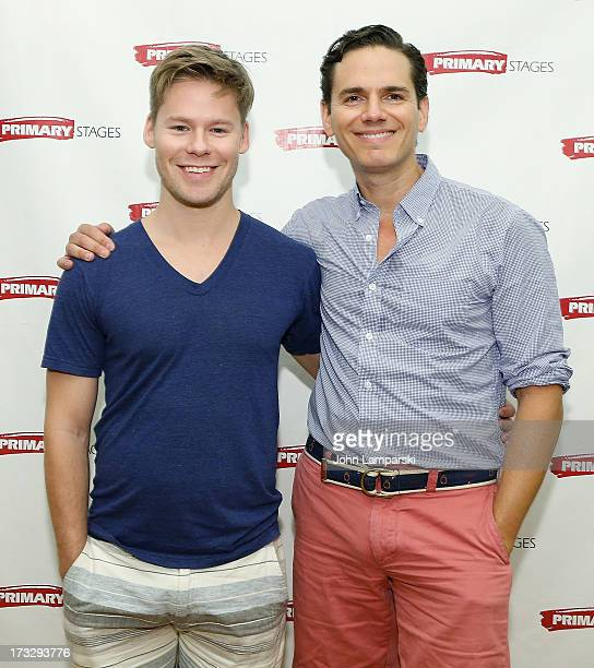 Randy Harrison and Paul Anthony Stewart attend the 'Harbor' Cast Photo Call at Primary Stages Rehearsal Studio on July 11 2013 in New York City