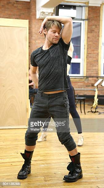 Randy Harrison during the press preview for the Roundabout Theatre Company's National tour production of 'Cabaret' at Gibney Studios on January 8...