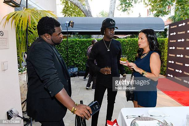 Randy Henderson K Camp and ThuyAnh J Nguyen attend the RapUp PreBET awards dinner presented by Hennessy at Hotel BelAir on June 21 2016 in Los...