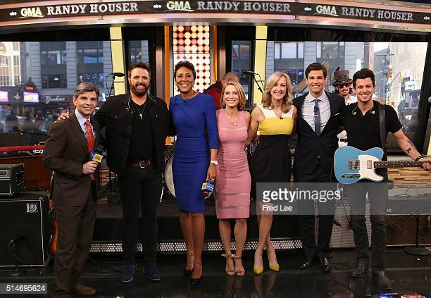 """Randy Houser performs live on """"Good Morning America,"""" 3/9/16, airing on the Walt Disney Television via Getty Images Television Network. GEORGE..."""