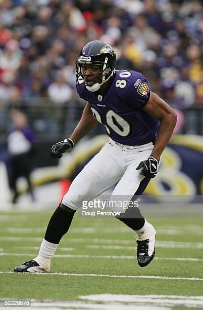 Randy Hymes of the Baltimore Ravens eyes the play against the Miami Dolphins during NFL action at M&T Bank Stadium on January 2, 2005 in Baltimore,...