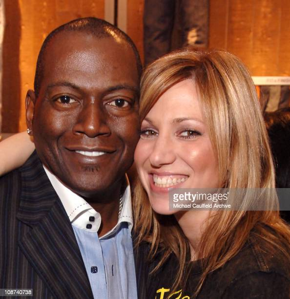 Randy Jackson and Deborah Gibson during Levi's Jeans and Lucky Magazine Celebrate the Celebrity Grand Opening of the New Beverly Hills Levi's Store...