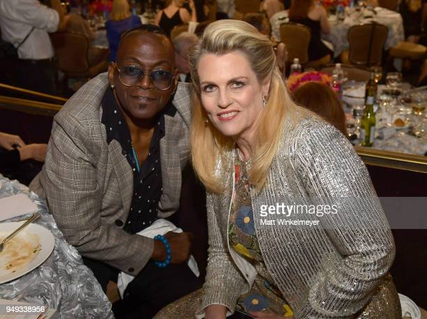 Randy Jackson and Founder of Race To Erase MS Nancy Davis attend the 25th Annual Race To Erase MS Gala at The Beverly Hilton Hotel on April 20 2018...