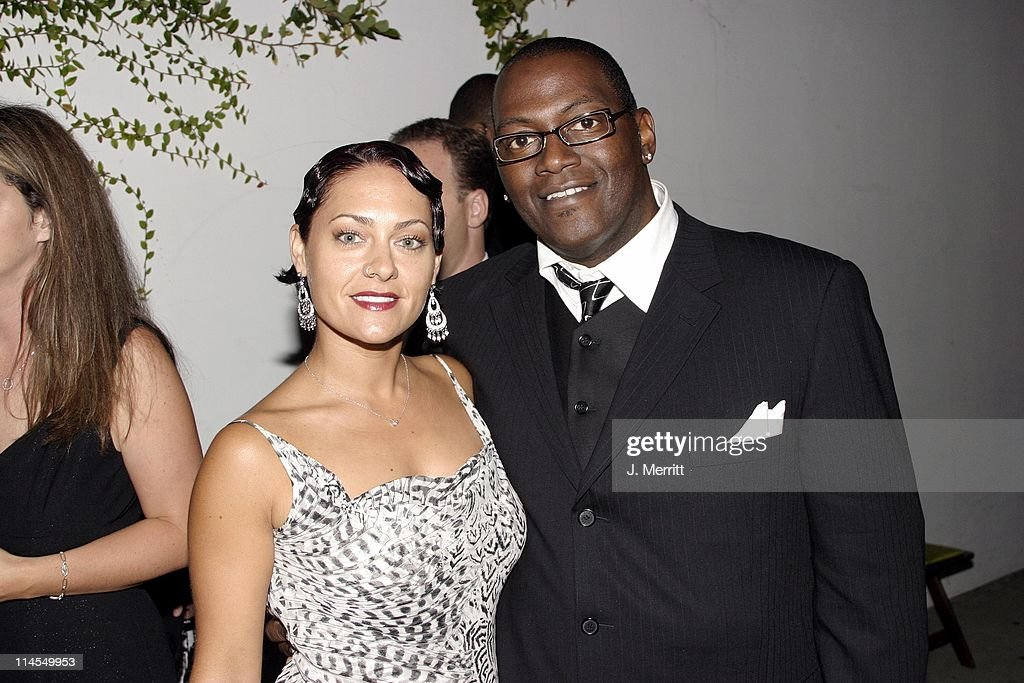 Randy Jackson and guest during 20th Century Fox Emmy After Party At Morton's at Morton's Restaurant in Los Angeles, California, United States.