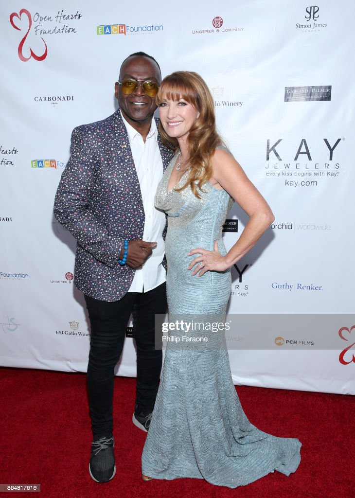 Randy Jackson and Jane Seymour at Jane Seymour And The 2017 Open Hearts Gala at SLS Hotel on October 21, 2017 in Beverly Hills, California.