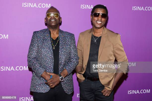 Randy Jackson and Kenny 'Babyface' Edmonds attend the ISINA Global Gala at Unici Casa on October 10 2017 in Culver City California