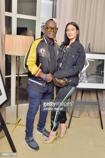 Randy Jackson and Lexi Pantera attend Diesel Presents Scott Lipps Photography Exhibition 'Rocks Not Dead' at Sunset Tower on June 28 2018 in Los...