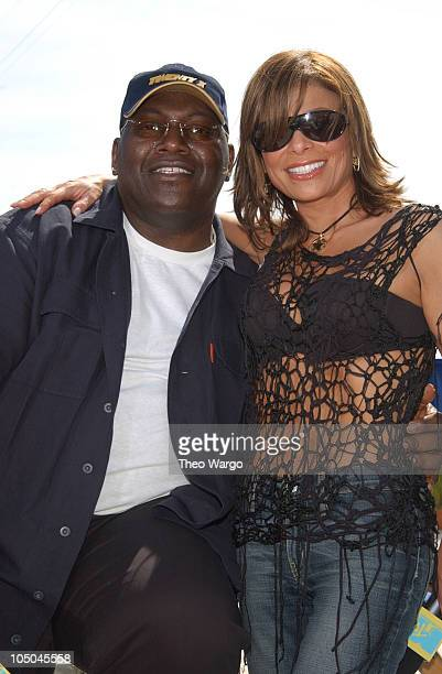 Randy Jackson and Paula Abdul during MTV's Spring Break 2003 American Idol Taping at Surfcomber Hotel in Miami Florida United States