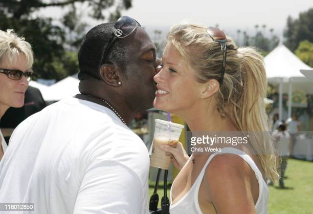 Randy Jackson and Rachel Hunter during The Silver Spoon Hollywood Buffet PreEmmys Day 2 in Los Angeles California United States Photo by Chris...