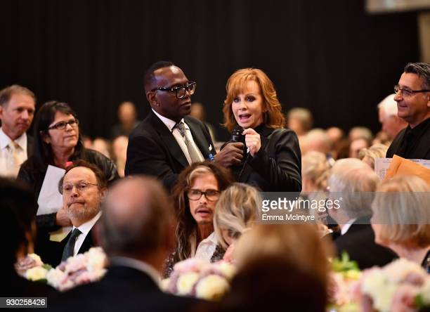 Randy Jackson and Reba McEntire attends Celebrity Fight Night XXIV on March 10 2018 in Phoenix Arizona
