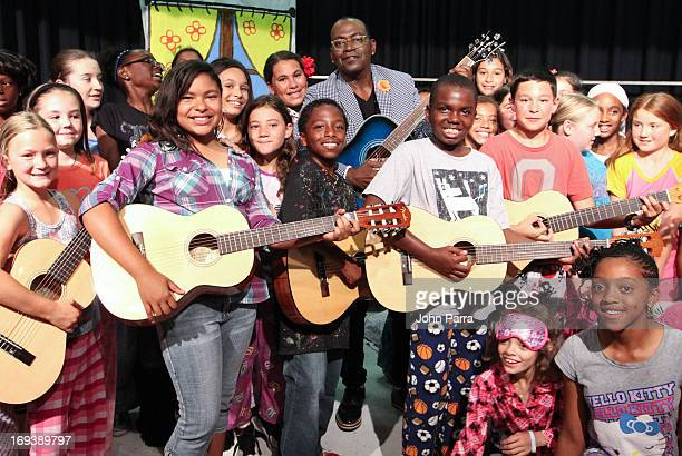 Randy Jackson and the students celebrates Memorial Day and our Nation's Troops with a tribute performance on his American Tribute Guitar Collection...