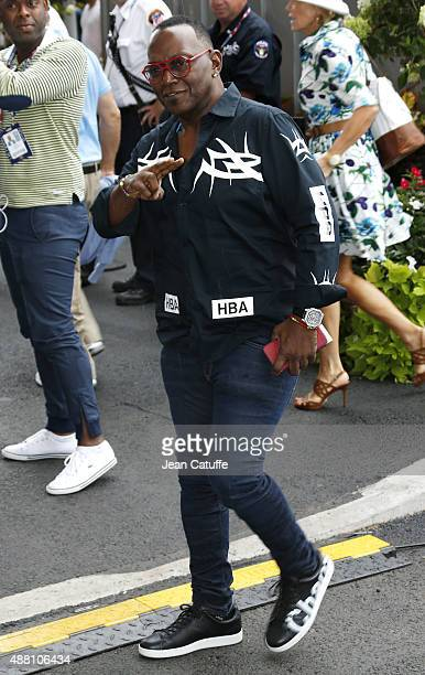 Randy Jackson arrives to attend the Men's Final on day fourteen of the 2015 US Open at USTA Billie Jean King National Tennis Center on September 13,...