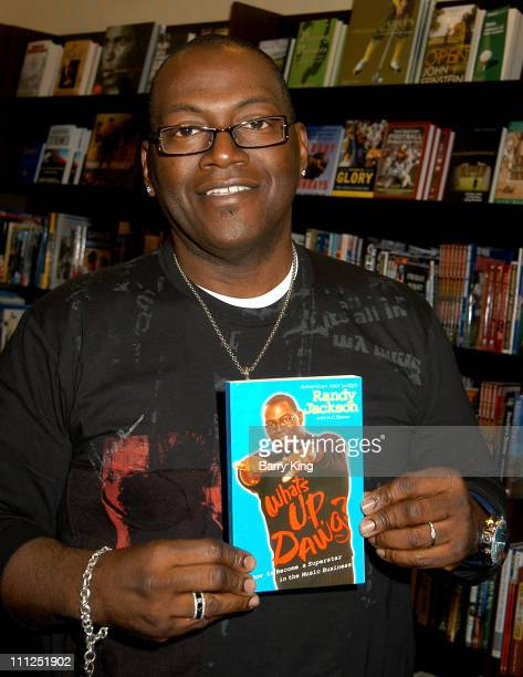 """Randy Jackson during Randy Jackson Signs Book """"What's Up Dawg"""" at Barnes & Noble at the Grove in Los Angeles, California, United States."""