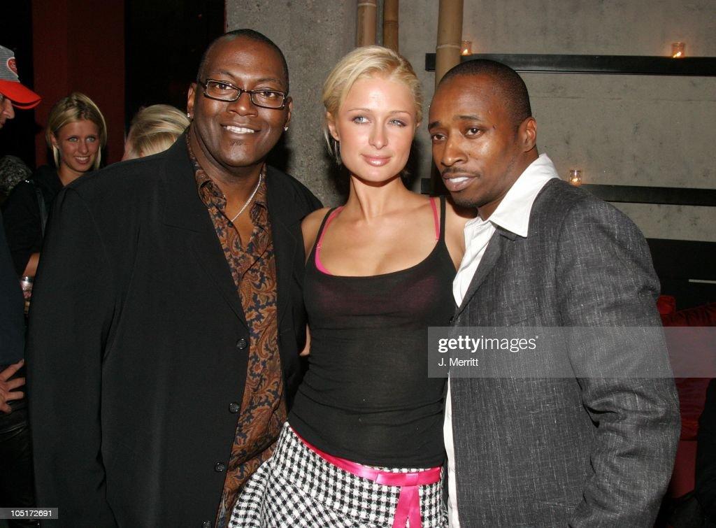 """Randy Jackson, Eddie Griffin, & Paris Hilton during """"Scary ..."""