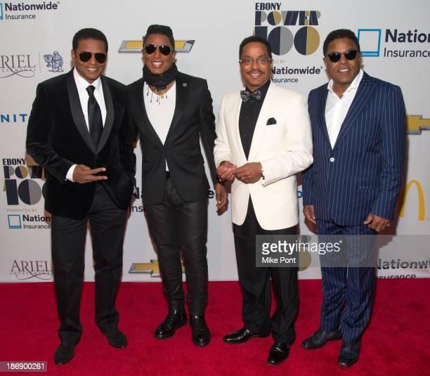 Randy Jackson Jermaine Jackson Marlon Jackson and Tito Jackson attend the 2013 EBONY Power 100 List Gala at Frederick P Rose Hall Jazz at Lincoln...
