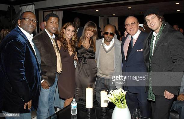 Randy Jackson Kenny Babyface Edmonds and guest Janet Jackson Jermaine Dupri Clive Davis and Gavin DeGraw
