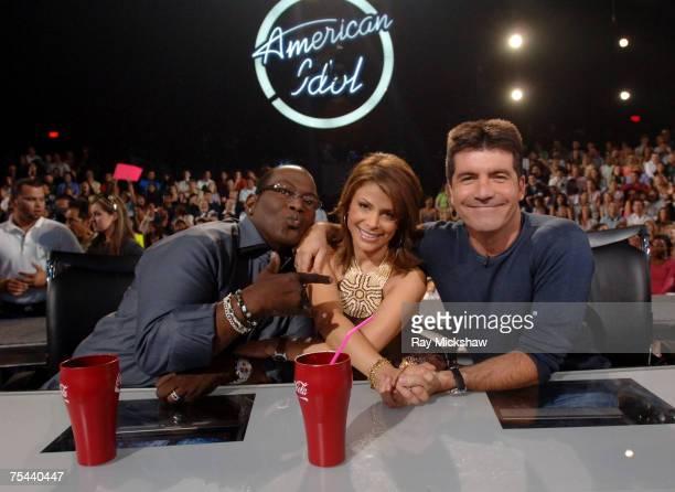 Randy Jackson Paula Abdul and Simon Cowell judges