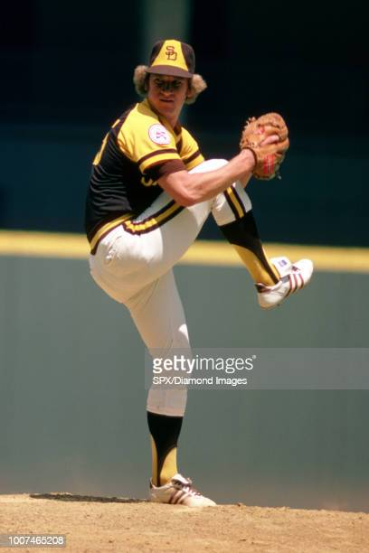 Randy Jones 35 of the San Diego Padres pitching during a game from his 1976 season with the San Diego Padres Randy Jones played for 10 years with 2...