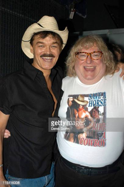 Randy Jones and Bruce Vilanch during Next Magazine's Out There Awards 2005 at Crowbar in New York City New York United States