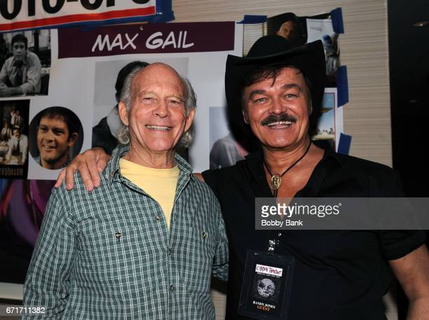 Randy Jones and Max Gail attend Chiller Theatre Expo Spring 2017 at Hilton Parsippany on April 22 2017 in Parsippany New Jersey