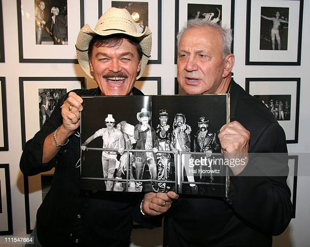 Randy Jones and Ron Galella during Party for Ron Galella's 'Disco Show' Opening September 6 2006 at Kasmin Gallery in New York City New York United...