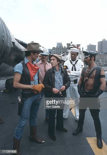Randy Jones David Hodo Alex Briley and Glenn Hughes of American disco group Village People