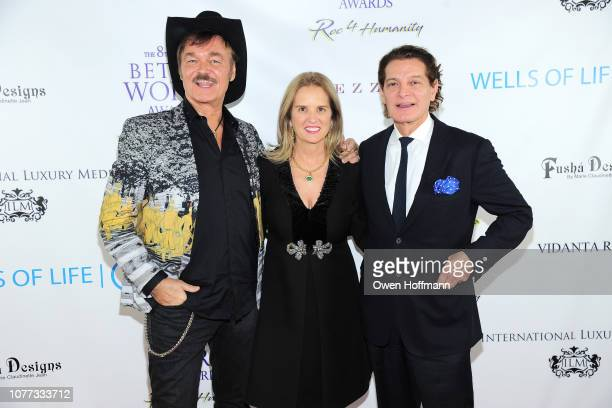 Randy Jones Kerry Kennedy and Edgar Batista attend Wells Of Life Charity Benefits At The 8th Annual Better World Awards Event Roc4Humanity at The...