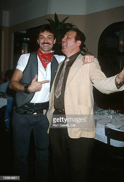 Randy Jones of The Village People and Ron Galella during Randy Jones' Birthday Party at Le Monde Restaurant in New York City New York United States
