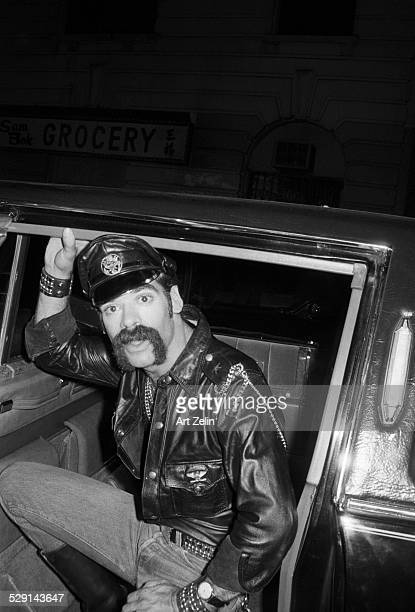 Randy Jones of the Village People getting out of a limousine circa 1970 New York